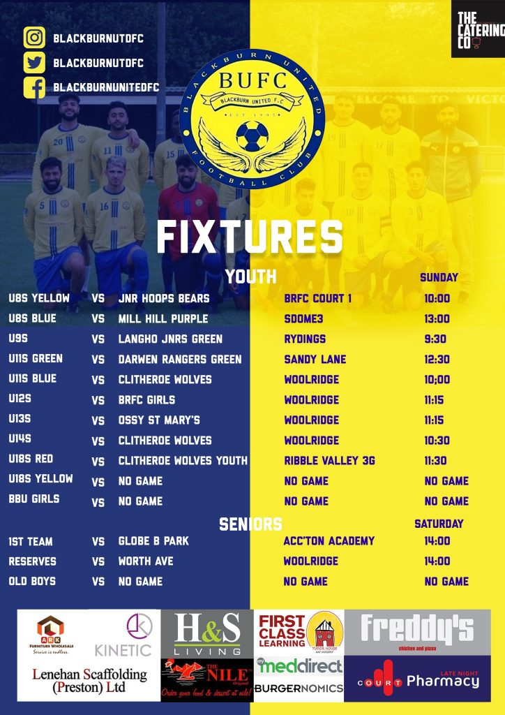 BUFC Fixtures Oct26 2019